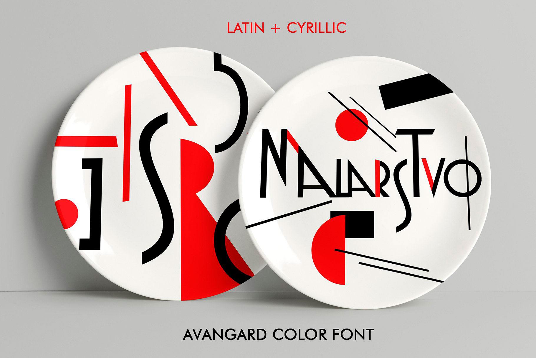 MOSAIC color font