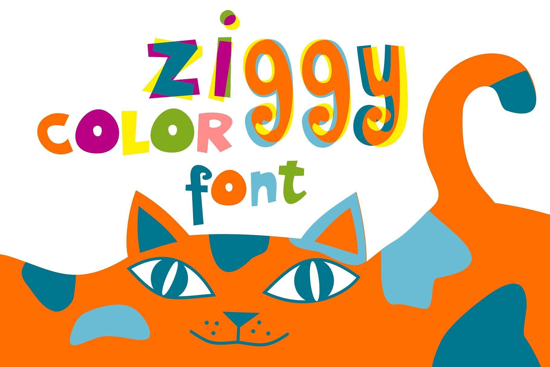 ZIGGY - COLOR OpenType-SVG font